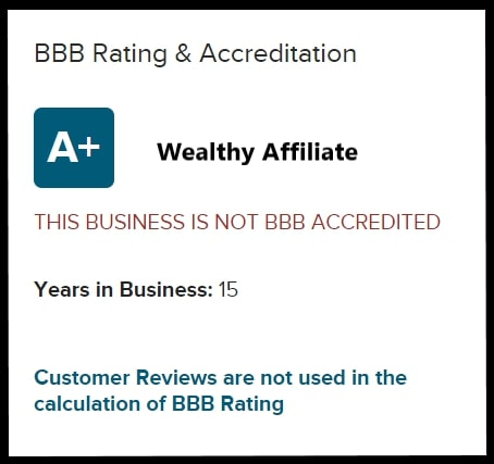 Wealthy Affiliate bbb